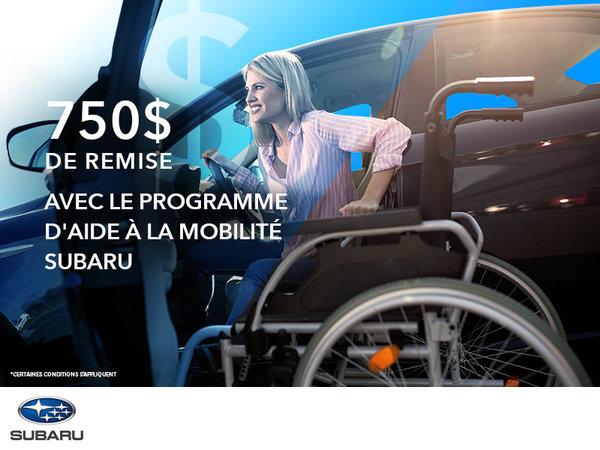 Programme d'aide à la mobilité Subaru