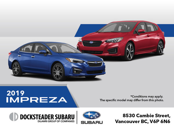 2019 Subaru Impreza 4 or 5-Door