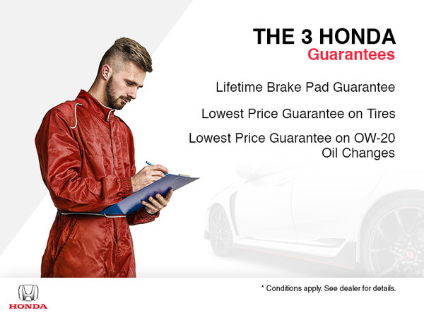 The 3 Honda Guarantees