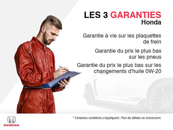 Les 3 garanties Honda