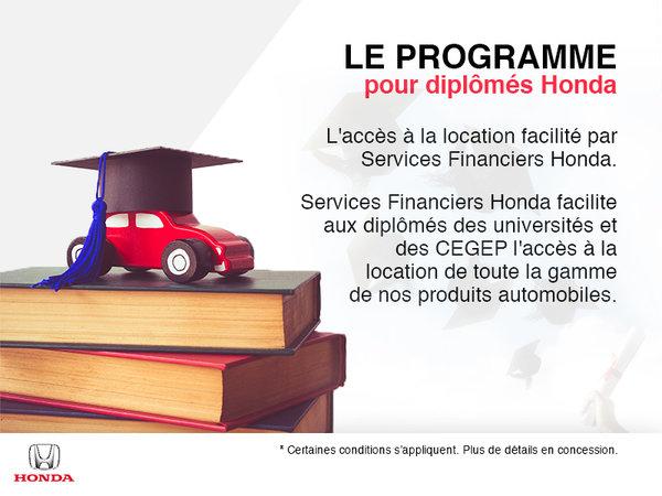 Le programme pour diplômés Honda