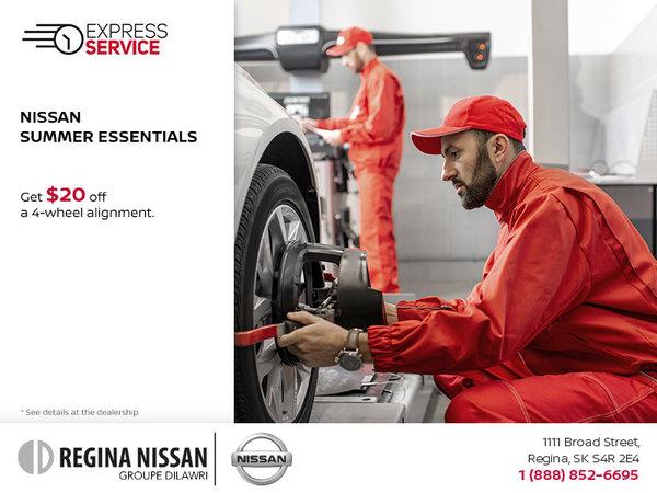 Nissan Summer Essentials - Wheel Alignment