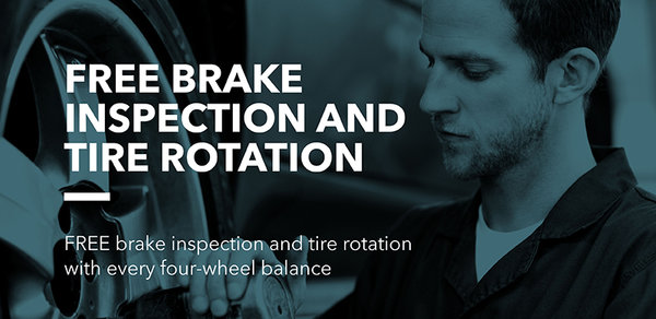 Free Brake Inspection and Tire Rotation