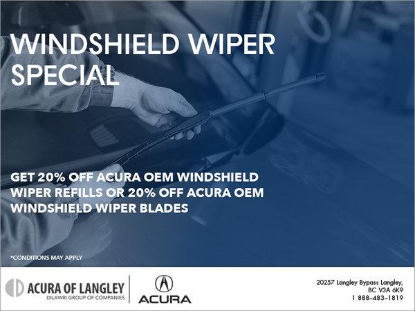 Windshield Wiper Special