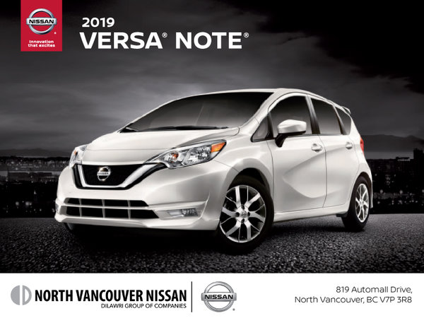 Get the 2019 Nissan Versa Note Today!