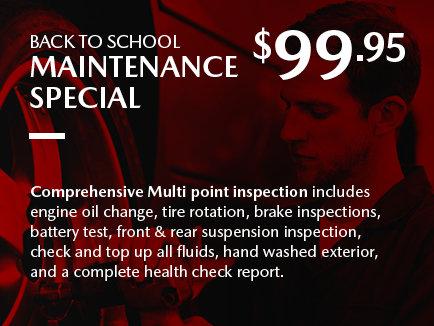Agincourt Mazda - Back to School Maintenance Special