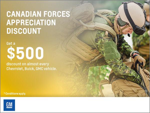 Canadian Forces Appreciation Rebate