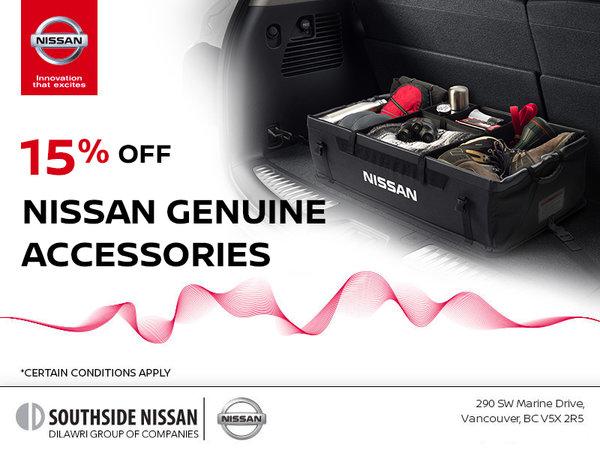 15% Off Nissan Genuine Accessories