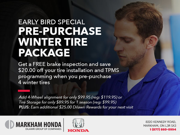 Pre-purchase Winter Tire Package