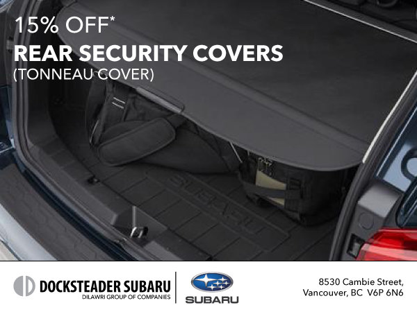 15% Off Rear Security Covers