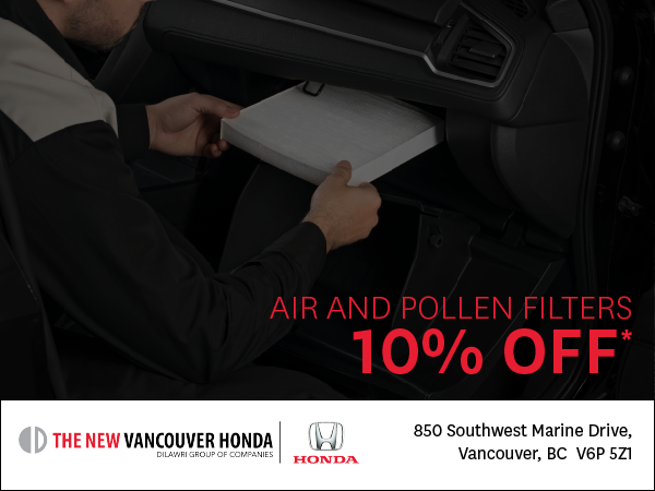 Air and Pollen filters |  10% off*