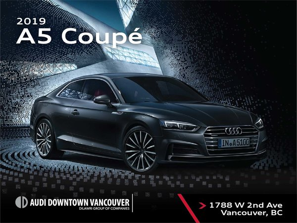 The 2019 Audi A5 Coupe