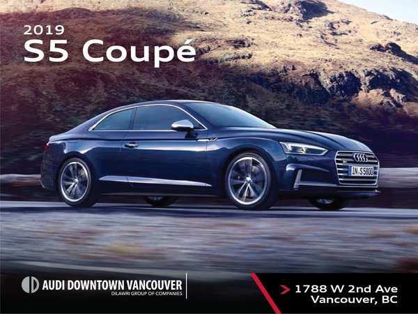 The 2019 Audi S5 Coupe