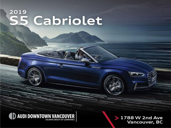 The 2019 Audi S5 Cabriolet