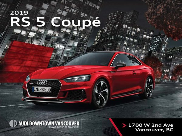 The 2019 Audi RS5 Coupe