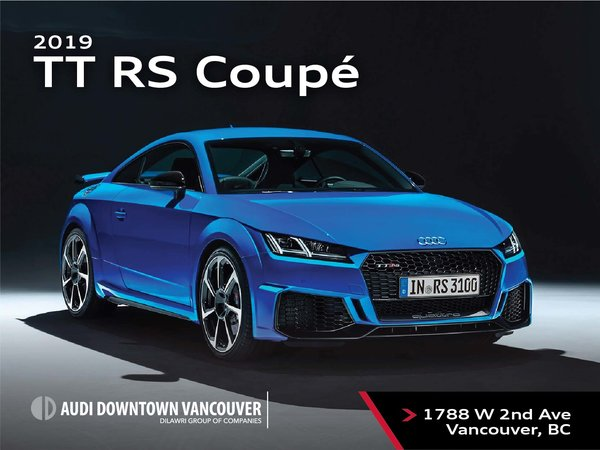 The 2019 Audi TT RS Coupe