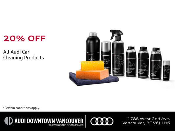 20% Off Audi Cleaning Products