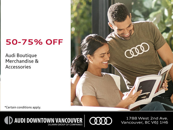 Blowout! 50-75% Off Audi Merchandise
