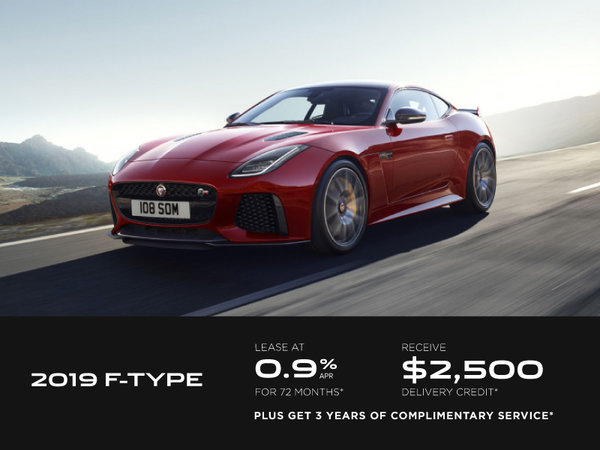Get the 2019 Jaguar F-Type Today!