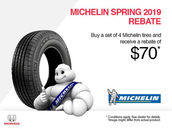 Michelin Spring 2019 Rebate