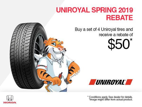 Uniroyal Spring 2019 Rebate