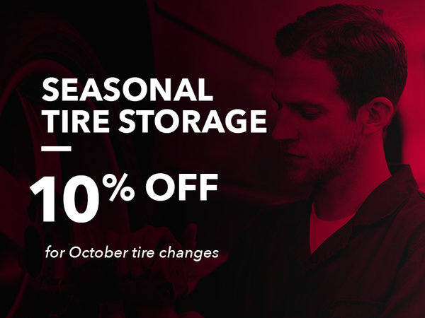 Seasonal Tire Storage: 10% OFF