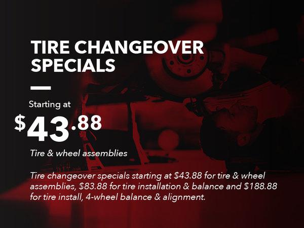 Tire Changeover Specials
