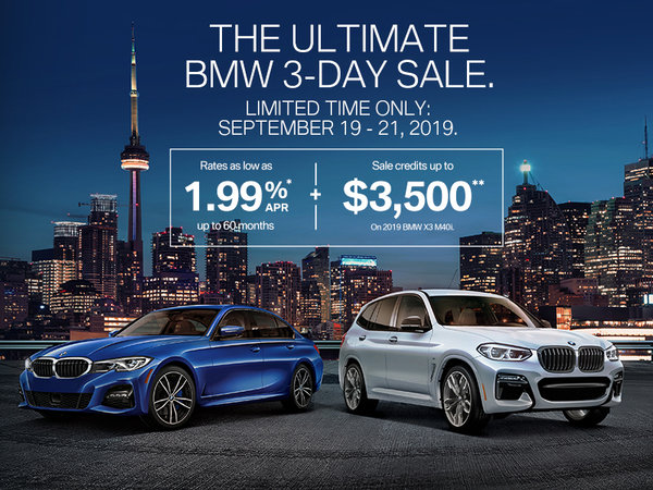 BMW Ultimate 3-Day Sale