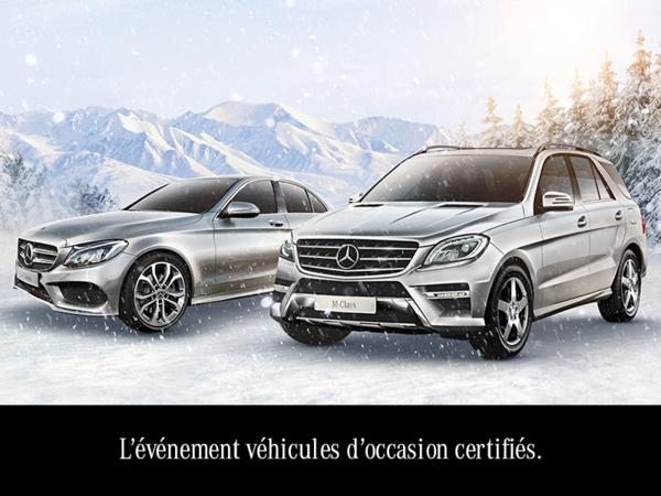 L'événement véhicules d'occasion certifiés.
