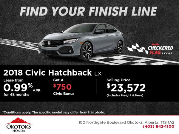 Get the 2018 Civic Hatchback!