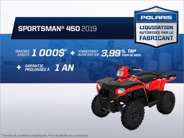 Beauce Sports - Épargnez sur le Sportsman 450 2019