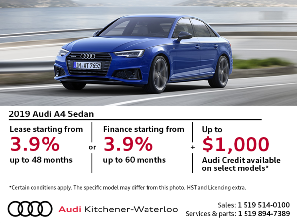Drive the 2019 A4 Sedan today!