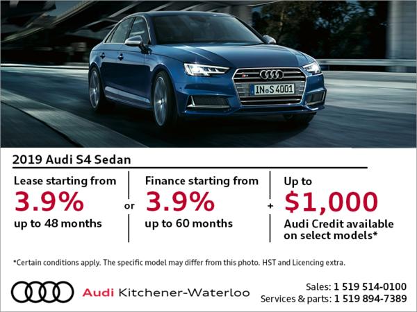 Drive the 2019 S4 Sedan today!
