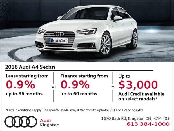 Drive the 2018 A4 Sedan today!