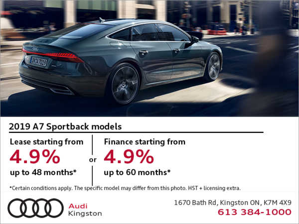 Drive the 2019 Audi A7 Sportback today!