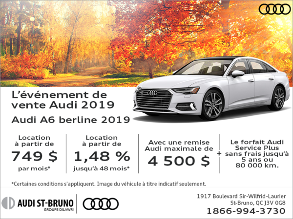 Conduisez l'Audi A6 2019