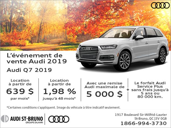 Conduisez l'Audi Q7 2019