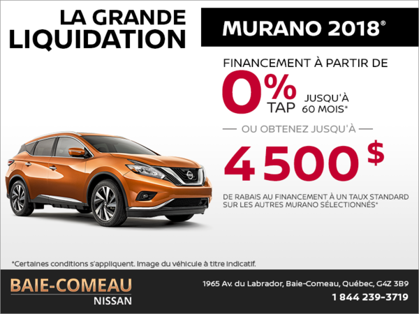 Le Nissan Murano 2018