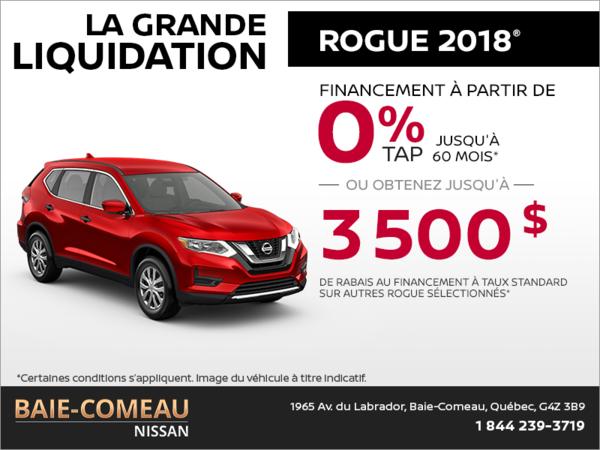 Le Nissan Rogue 2018!