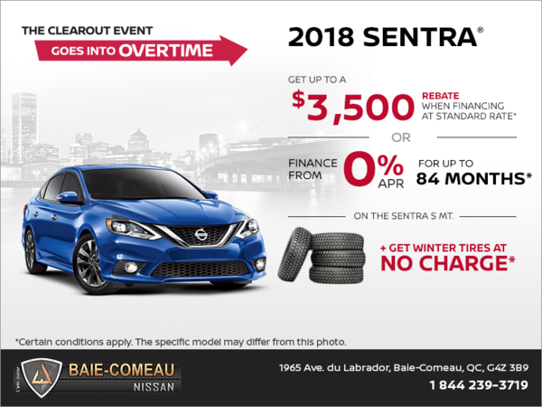 Get the 2018 Sentra Today!
