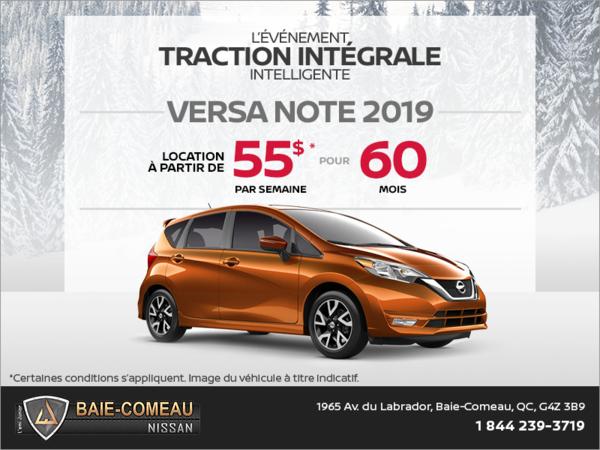 Obtenez la Nissan Versa Note 2019 dès aujourd'hui!