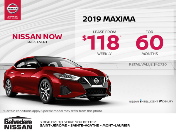 Get the 2019 Maxima today!