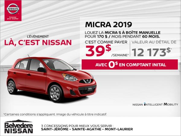 Louez la Nissan Micra 2019 dès aujourd'hui!