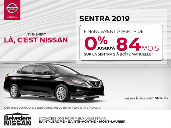 Obtenez la Nissan Sentra 2019 en rabais!