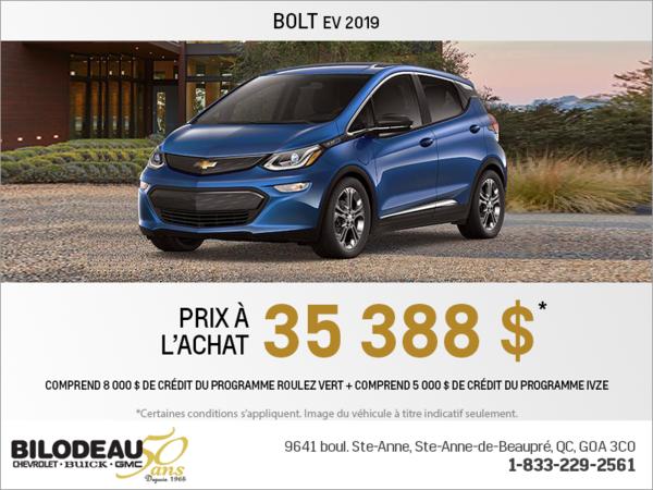 Procurez-vous la Chevrolet Bolt 2019!