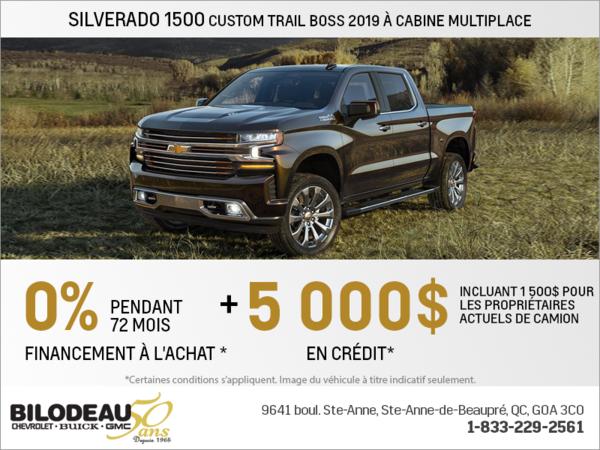 Obtenez le Chevrolet Silverado 2019!