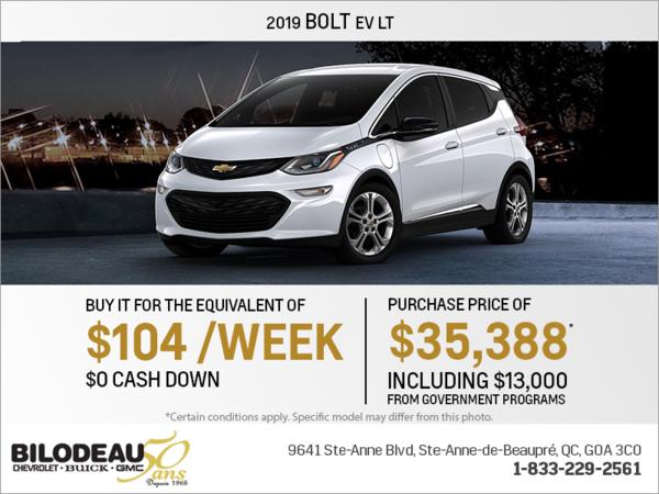 Get the 2019 Chevrolet Bolt!
