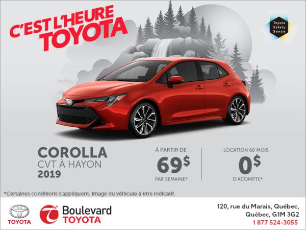 Toyota Corolla à hayon 2019
