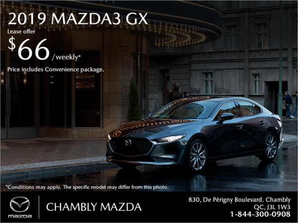 Get the 2019 Mazda3!