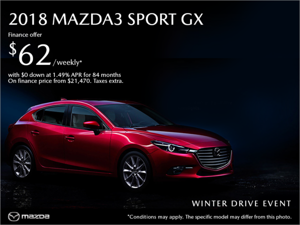 Coastline Mazda - Get the 2018 Mazda3 Sport today!